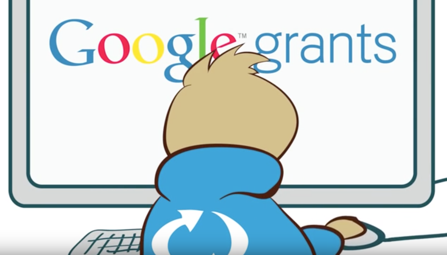 fumetto rappresentante Google Ad Grants